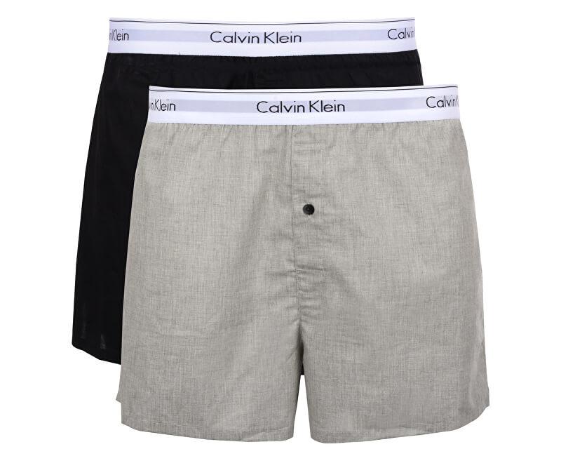 Calvin Klein Sada trenek Modern Cotton Stretch Slim Boxer 2P NB1396A-BHY