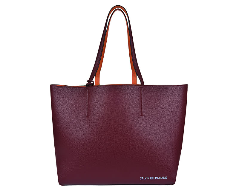 Calvin Klein Dámská kabelka Ultra Light Reversible Tote Bag+Wristlet Zip Pouch-Wine