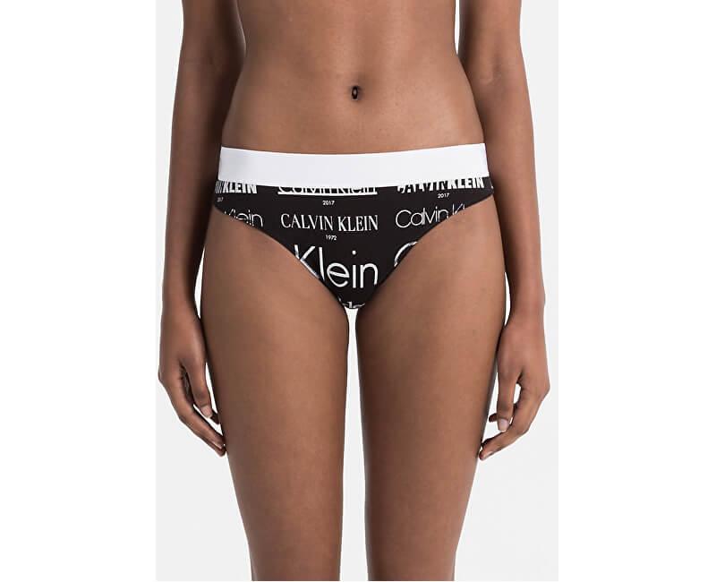 Calvin Klein Dámské kalhotky Thong QF4058E-2HV Heritage Logo/Black