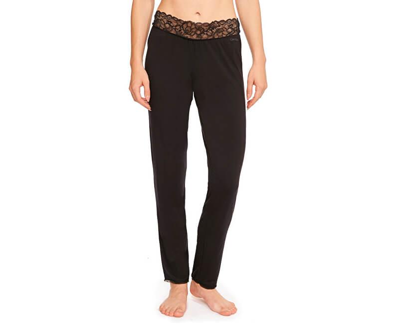 Calvin Klein Pantaloni femei Seductive Comfort w. Lace Pant QS5478E-001 Black