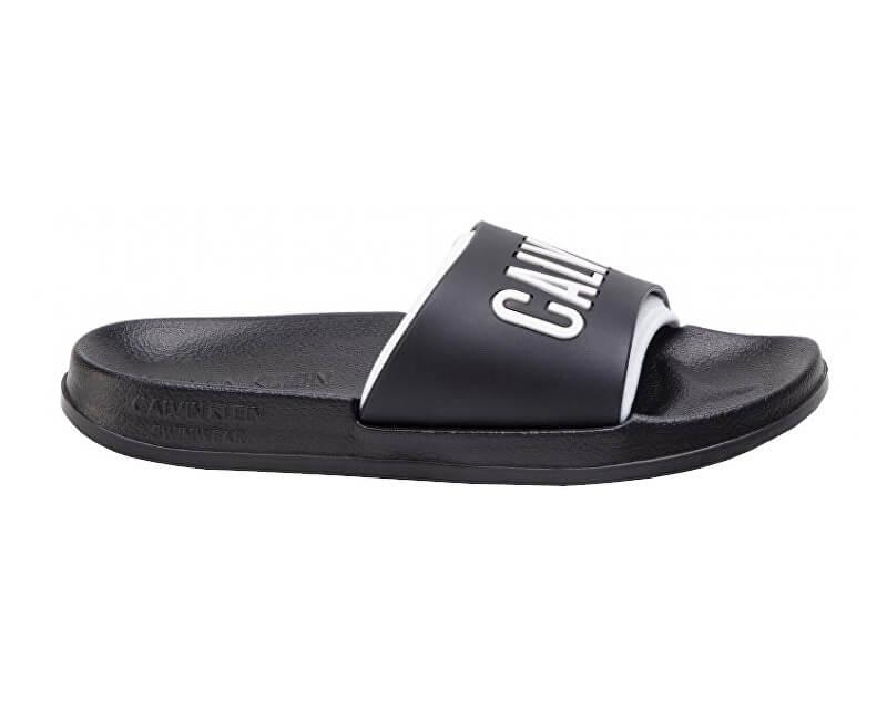 Calvin Klein Dámské pantofle Slide KW0KW00779-930 Black/White Lg