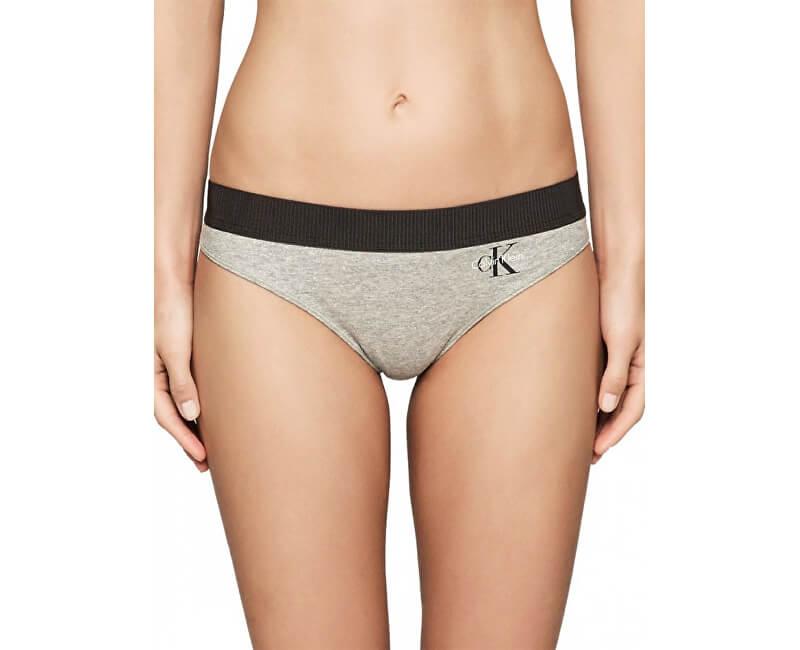 Calvin Klein Chiloți sport pentru femei Thong QF1644E-IL-7 Grey