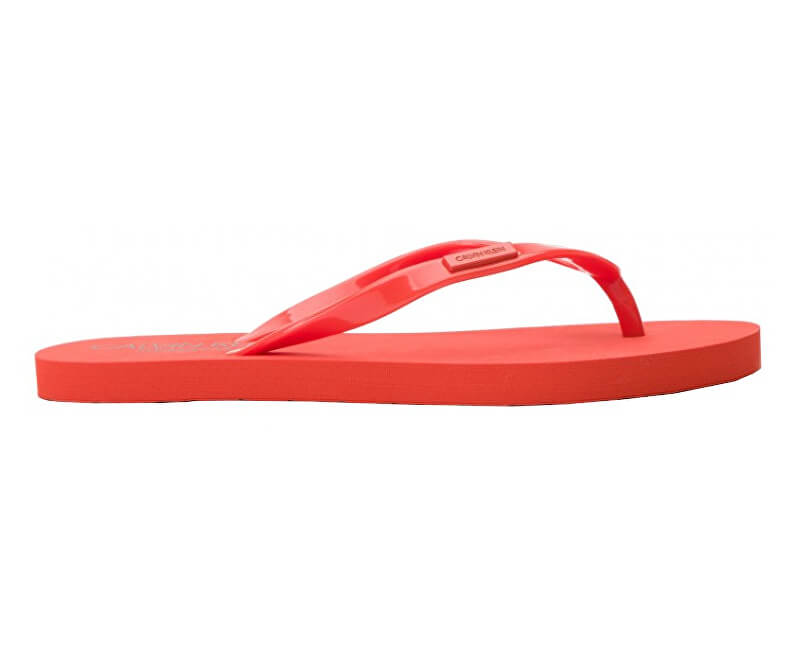 Calvin Klein Dámské žabky FF Sandal KW0KW00395-659 Mandarine Red