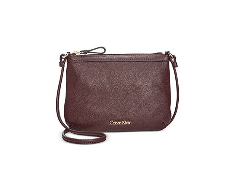 Calvin Klein Elegantní crossbody kabelka Pebble Leather Crossbody Purple 35ffa707183