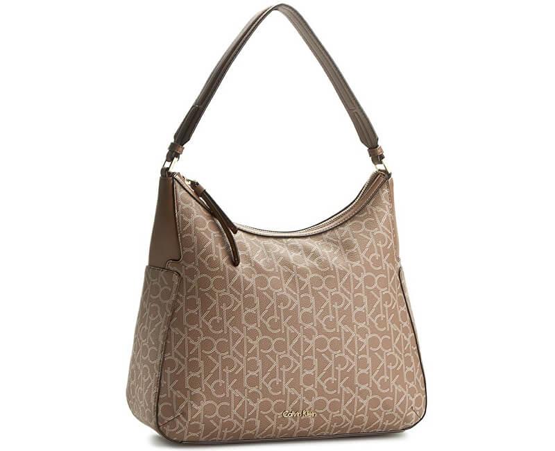 Calvin Klein Geantă elegantă Nina Mono Large Bucket Bag Beige