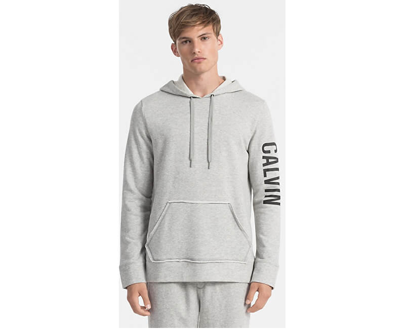 Calvin Klein Pánská mikina L S Hoodie NM1454E-080 Grey Heather ... 79febc26f9