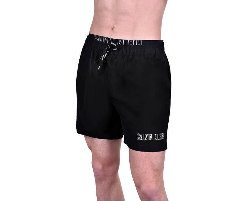 ac260b3355 Calvin Klein Pánske kúpacie kraťasy Medium Double Waistband KM0KM00300-001  Black ...