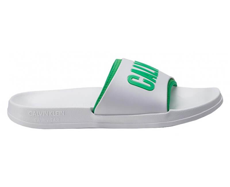c00ba460f3 Calvin Klein Férfi papucs Slide KM0KM00376-100 White | Vivantis.hu ...