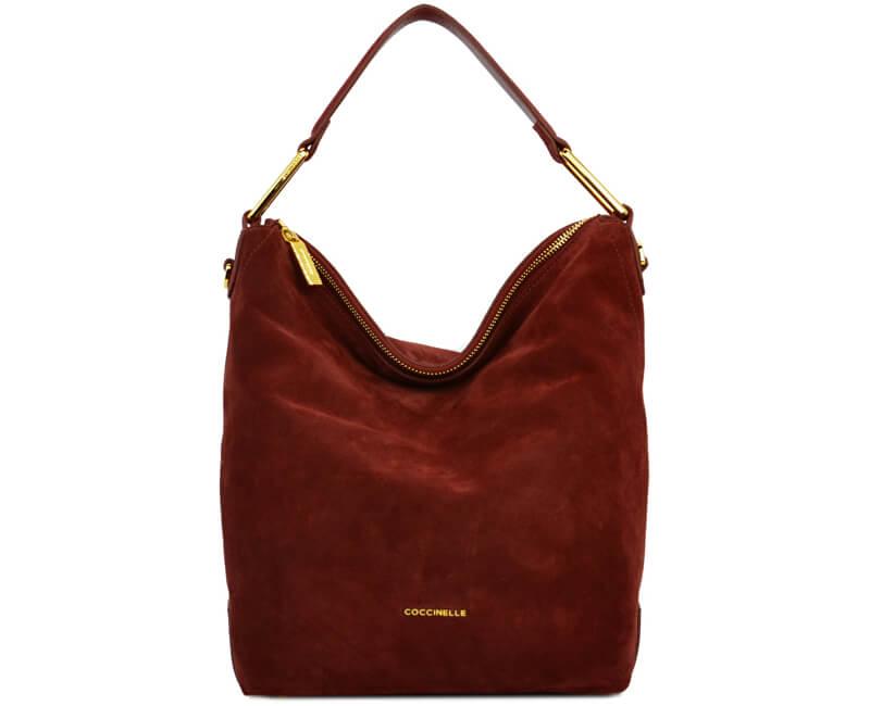 53a1bc1426dd Coccinelle Luxusná kožená kabelka Liya suede CD1130101R00 Doprava ...
