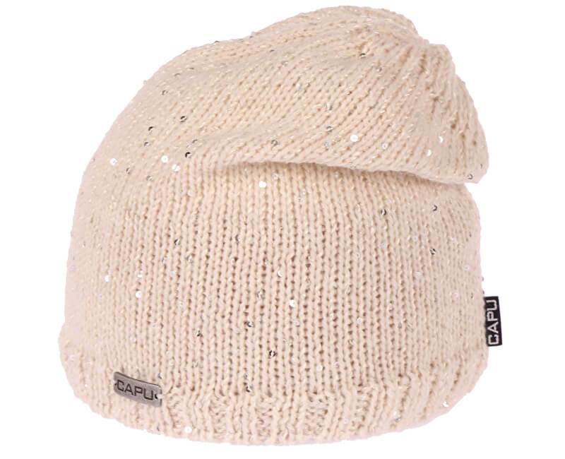 CAPU Zimní čepice 420-D Beige