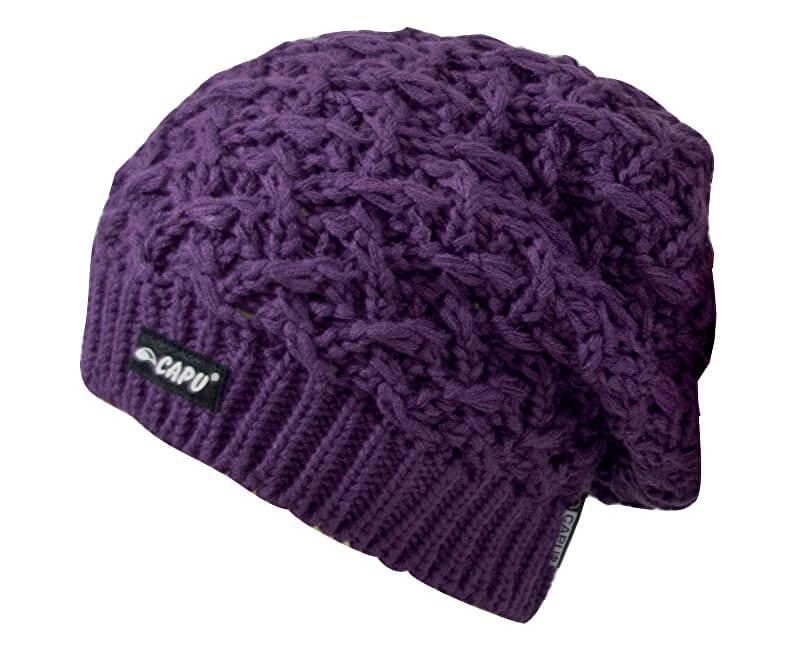 CAPU Zimní čepice 18823-A Purple  47ee162190