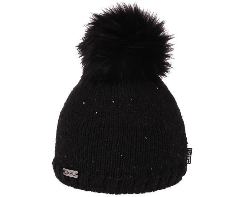 CAPU Zimní čepice 388-A Black