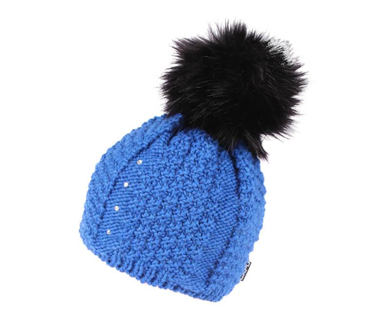 CAPU Zimní čepice s bambulí Blue 381-C