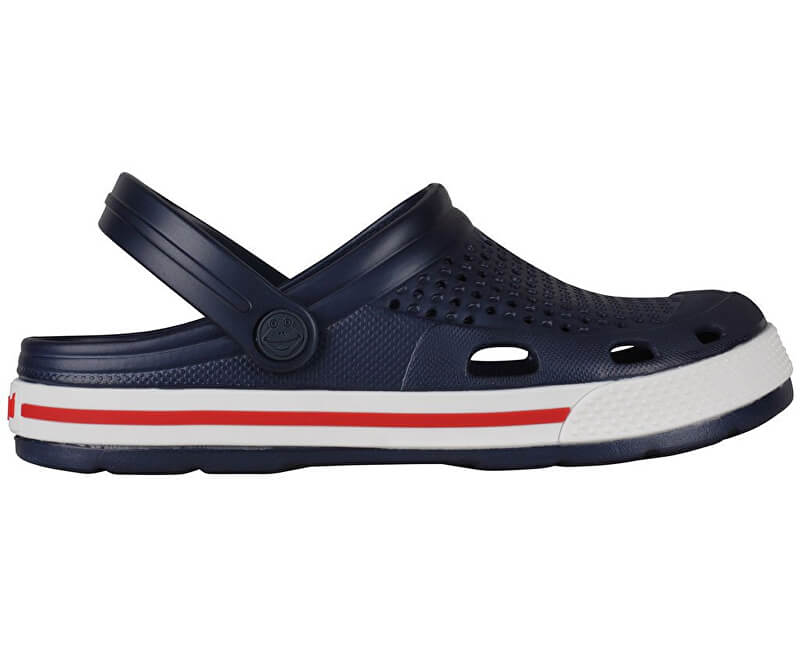 Coqui Dámské sandále Lindo Navy/White 6413-100-2132