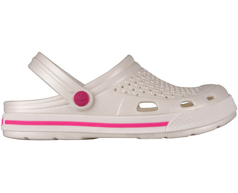 Coqui Dámské pantofle Lindo Pearl/Fuchsia 6413-100-3105