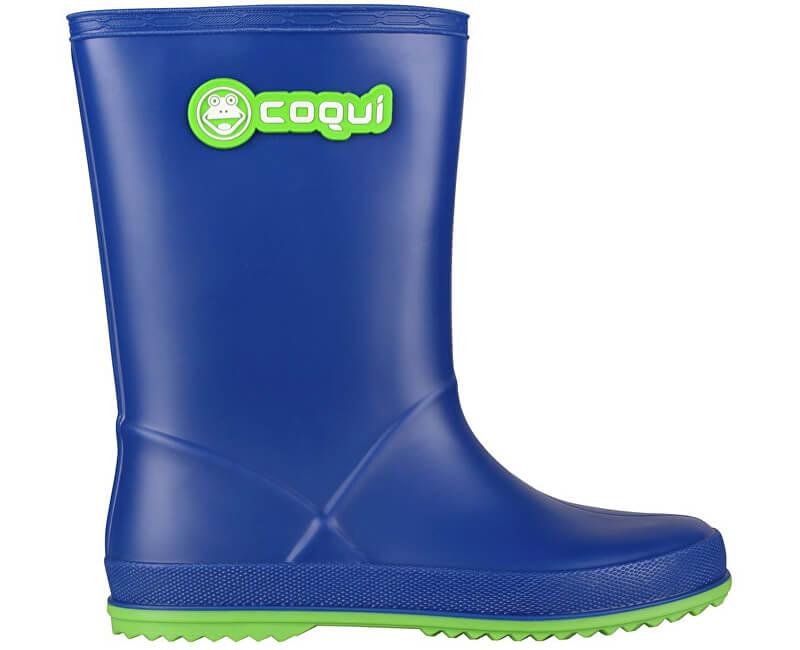Coqui Dětské holínky Rainy Blue/Lime 8506-100-5014