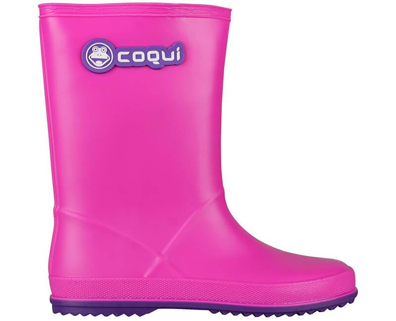 Coqui Detské gumáky Rainy Fuchsia / Purple 8506-100-0543