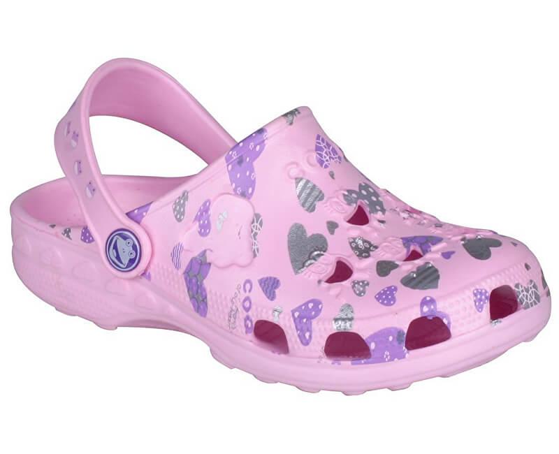 Coqui Detské šľapky Little Frog 8714 Pink 100339
