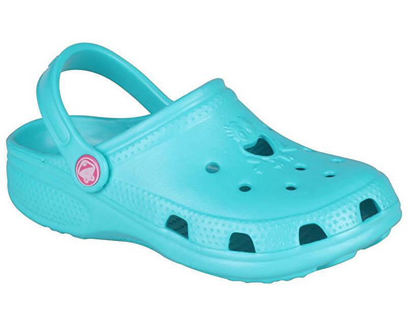 Coqui Dětské pantofle Big Frog 8101 Turquoise 101475