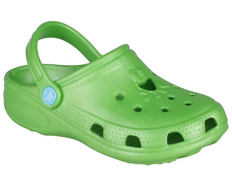Coqui Dětské pantofle Big Frog Lime 8101-100-1400