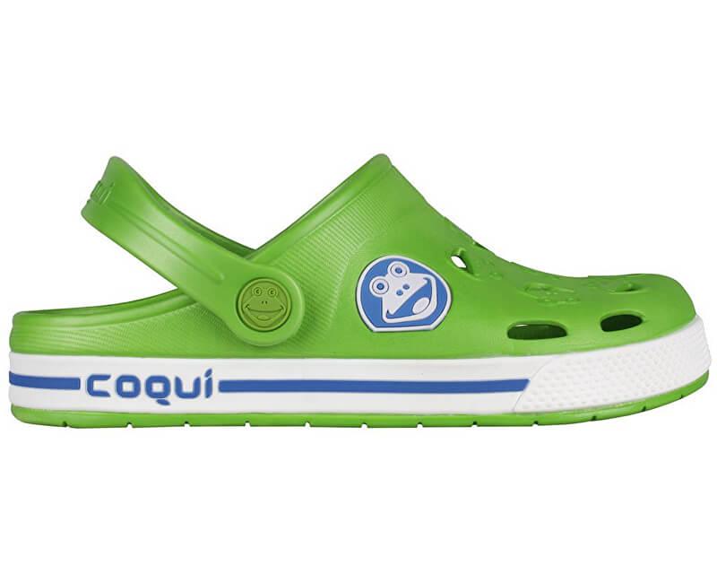Coqui Dětské pantofle Froggy 8801 Lime/White 101966
