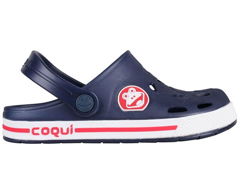 Coqui Dětské pantofle Froggy Navy/White 8801-100-2132