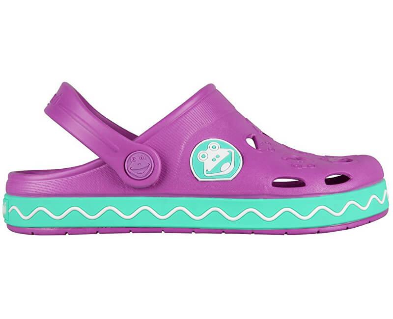 Coqui Dětské pantofle Froggy 8801 New purple/mint 101970