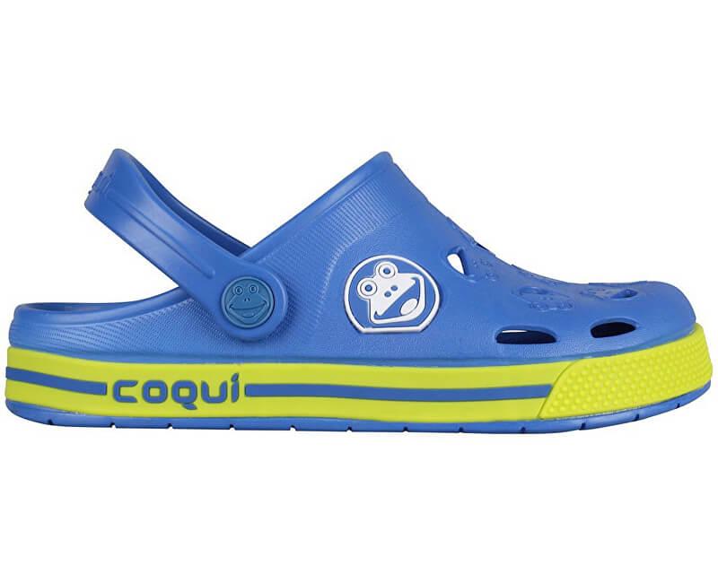 Coqui Dětské pantofle Froggy Royal/Citrus 8801-100-2013