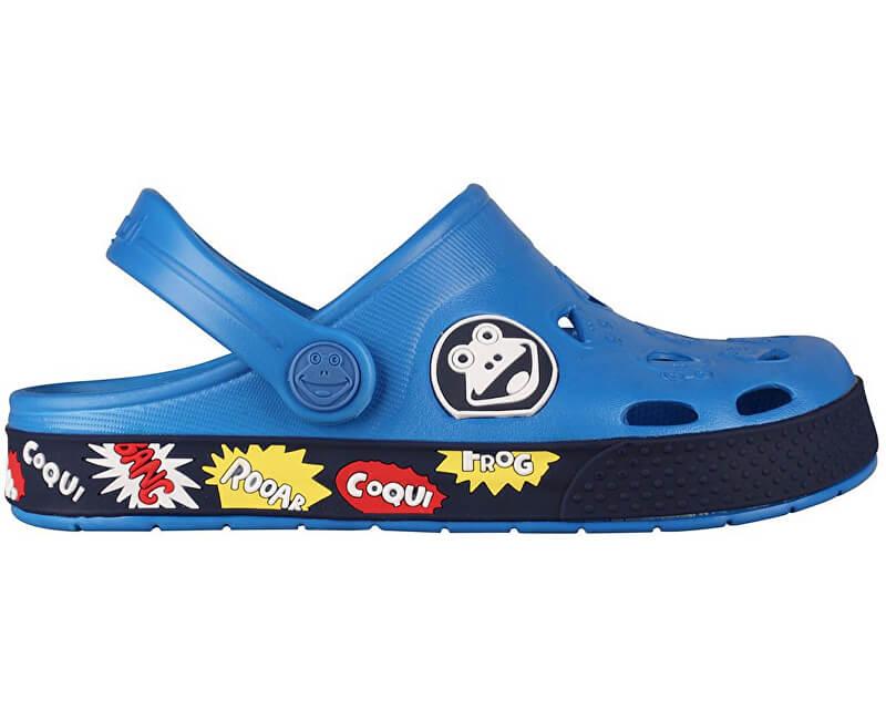 Coqui Dětské pantofle Froggy 8802 Sea blue Navy 102341  63e4b0de98