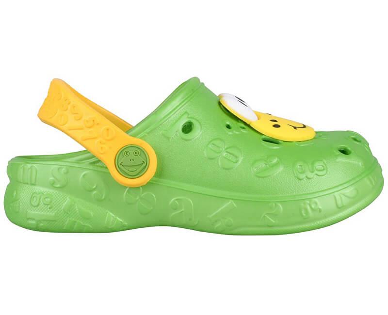 Coqui Dětské pantofle Hoppa 9381 Lime 102207