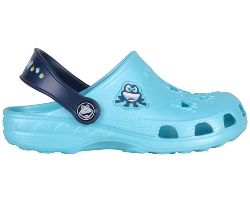 Coqui Dětské pantofle Little Frog 8701 Blue/Navy 8701-100-1821