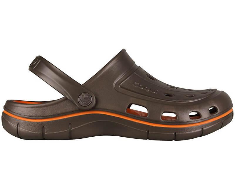 Coqui Pantofi pentru bărbați Jumper 6351 Chocolate/Dk. portocaliu 102030