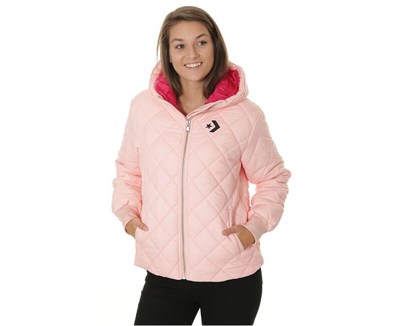 Converse Dámska bunda Quilted Poly Puffer Storm Pink
