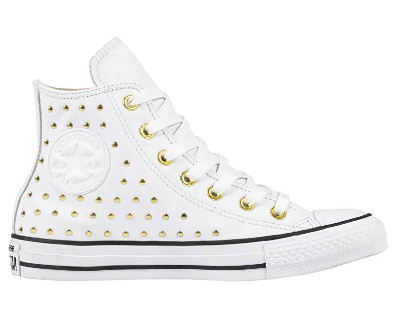 839278ce6b0c4 Converse Dámske členkové tenisky Chuck Taylor All Star White/White/Gold