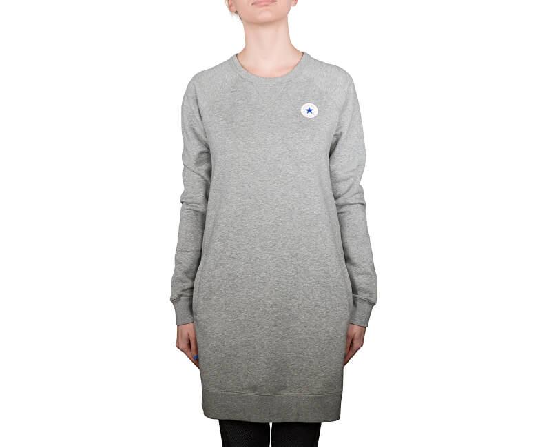 Converse Dámský svetr Core Sweatshirt Dress Vintage Grey Heather