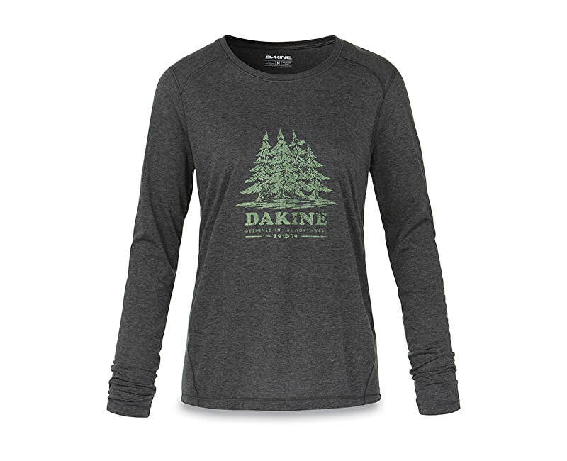 Dakine Dámské triko Women`s Pine Island L/S Tech T Heather Black 10001522-W18