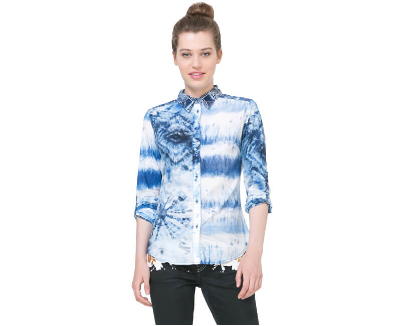 6c983c0f76a8 Desigual Dámska košeľa Cam Flower 73C2WF9 5000 - ZĽAVA 0