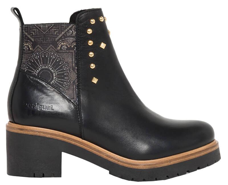 Desigual Dámské kotníkové boty Shoes Biker Blackstuds Negro 18WSAL08 2000