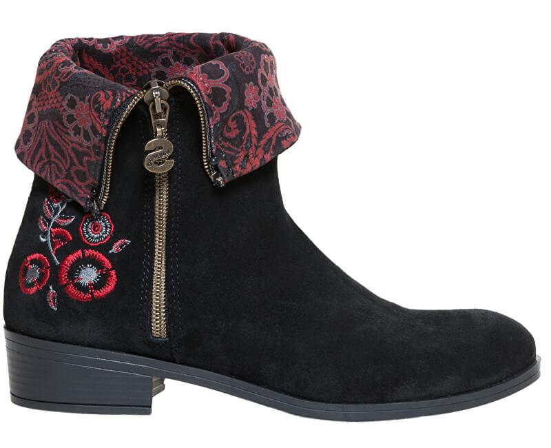 Desigual Dámské kotníkové boty Shoes Neoboho Foulard Negro 18WSAL12 2000