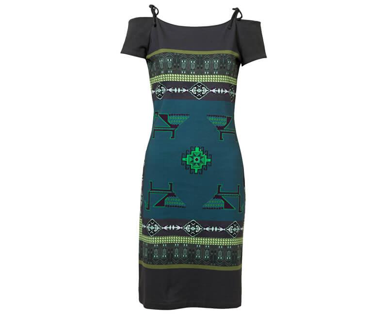 Desigual Dámské šaty Vest Aretha Verde Botella 19SWVK67 4009