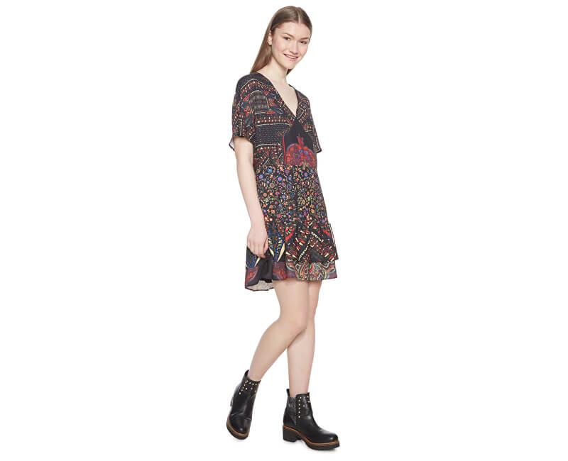 a234847445f4 Desigual Dámske šaty Vest Gina Negro 18WWVWA0 2000 Doprava ...