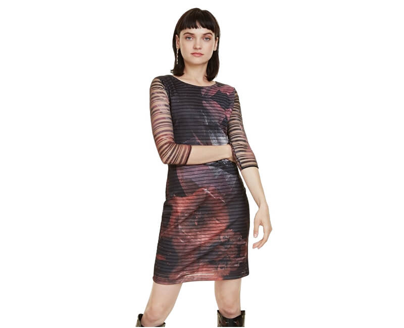 c4d178490cf9 Desigual Dámské šaty Vest Rosa Glam Rosa Glamour 18WWVK67 3044 ...