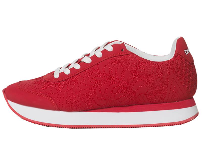 Desigual Dámské tenisky Shoes Galaxy Lottie Red Chinese Read 19SSKP02 3144
