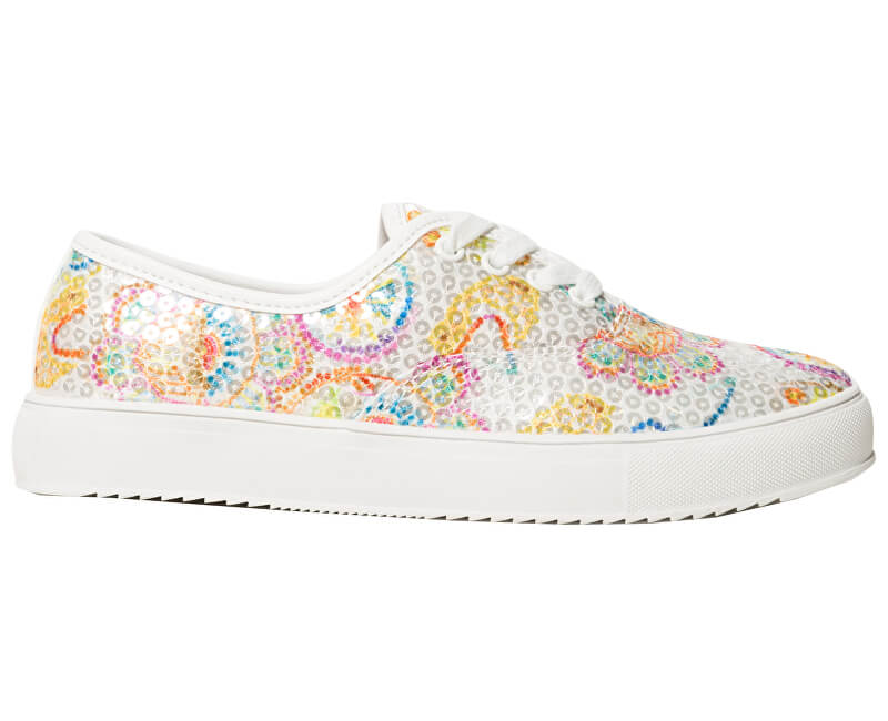 Desigual Dámské tenisky Shoes Queen Skull Blanco 19SSKF15 1000