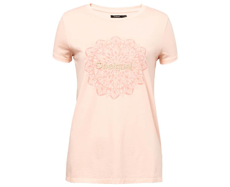 Desigual Dámské triko TS Manchester Rosa Carnal 19SWTK41 3055