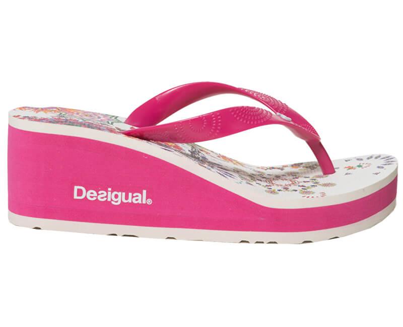 Desigual Dámské žabky Shoes Lola Galactic Fuxia Magico 19SSHF18 3062