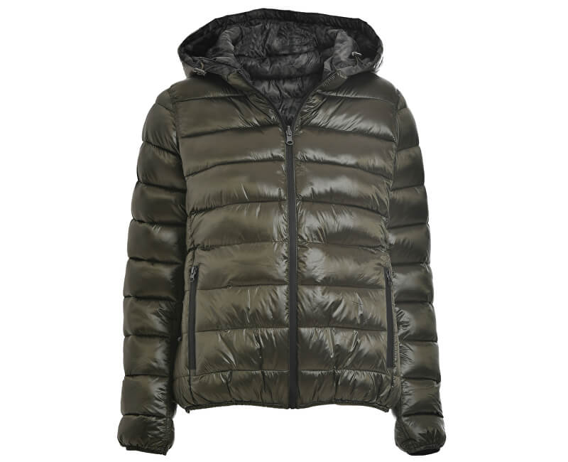 Deha Dámská bunda Printed Padded Jacket Reversib B64880 Olive Grey