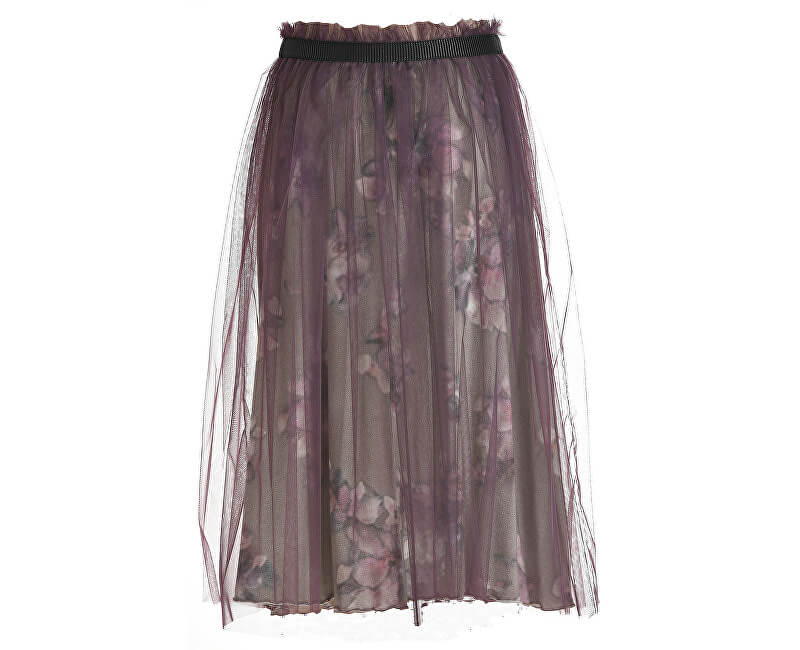 Deha Dámská sukně Tulle Skirt B64027 Var.Gr/Gio/Lavanda