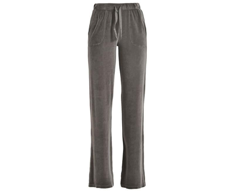 Deha Dámské kalhoty Velour Straight Pants B64515 Walnut Brown