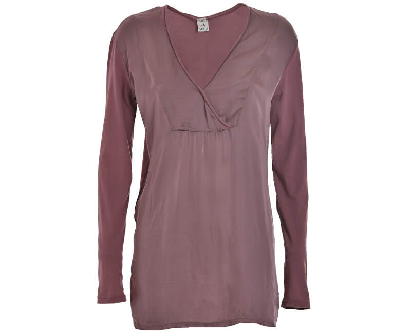 Deha Dámské triko Long Sleeve T-shirt D63630 Rose Grey